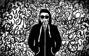 Erik, white, black, painting, Wderikskate