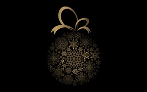 Christmas, vectors, black background