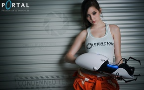 Aperture Laboratories, cosplay, Chell, Portal