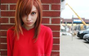 face, closeup, redhead