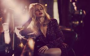 girl, drink, legs, drinking glass, Kate Bosworth, lights