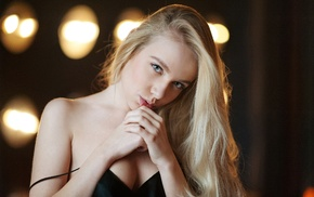 girl, face, portrait, Maxim Maximov, blonde, Maria Popova