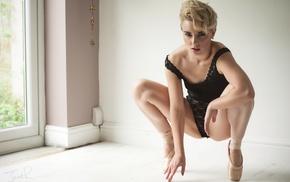 ballerina, Jack Russell, model, girl