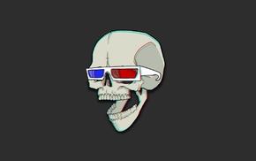 skull, artwork, minimalism, bones, 3d object, humor