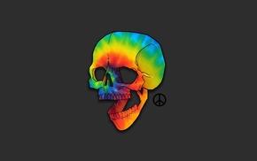 humor, artwork, skull, minimalism, bones