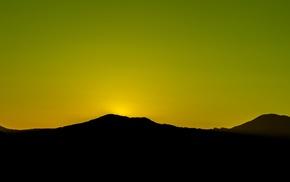 silhouette, landscape