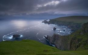 cliff, landscape, coast