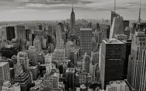 urban, skyscraper, monochrome, USA