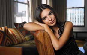 looking at viewer, girl, brunette, Emily Ratajkowski, model