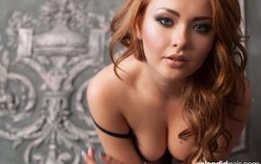 black bras, boobs, girl, face, portrait