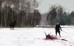 The Witcher, artwork, video games, The Witcher 3 Wild Hunt, fantasy art