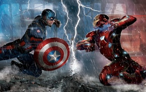 concept art, Captain America Civil War, superhero, Iron Man, artwork, comics
