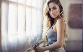 blonde, girl, fahrbar, Dani Diamond, portrait