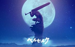 armor, Guts, Berserk, sword, moon
