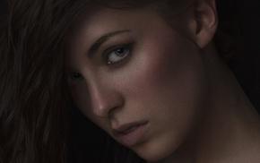 girl, face, paul dehem, closeup