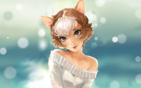 cat girl, original characters, animal ears, anime girls, fantasy art, anime