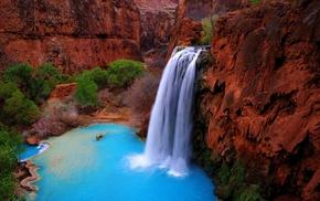 waterfall, canyon