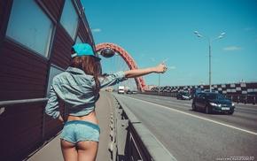 back, girl, Natasha Kovryga, girl with cars, baseball caps, ass