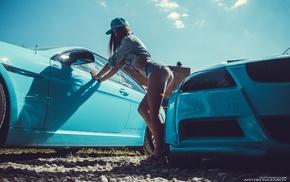 jean shorts, denim, girl, girl with cars, Natasha Kovryga, ass