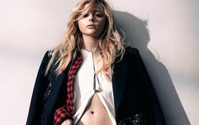 girl, actress, lips, flat belly, blonde, coats