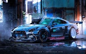 car, Nissan GT, R, Khyzyl Saleem