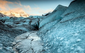 nature, landscape, ice