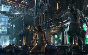 Cyberpunk 2077, fantasy art