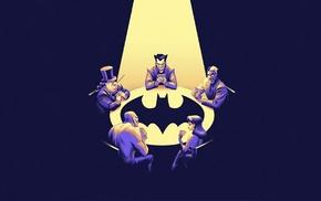 Killer Croc, batman the animated series, Joker, Batman, Poison Ivy, Two