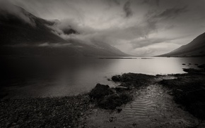 landscape, monochrome, nature