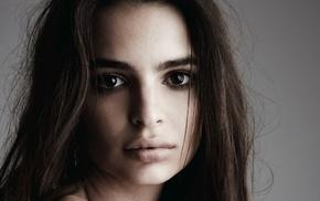 Emily Ratajkowski, face, girl, brown eyes, brunette, model