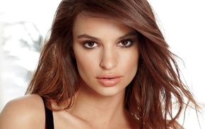 model, brown eyes, Emily Ratajkowski, brunette, face, girl