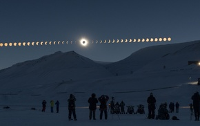 planet, galaxy, NASA, sky, stars, eclipse