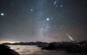 science, galaxy, planet, stars, NASA, sky