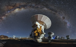 galaxy, nature, long exposure, ALMA Observatory, Atacama Desert, starry night