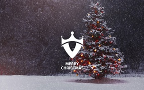 Christmas Tree, Christmas, snow