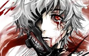 anime, Kaneki Ken, Tokyo Ghoul, artwork