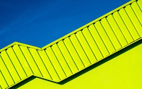 clear sky, modern, abstract, yellow, sky, architecture