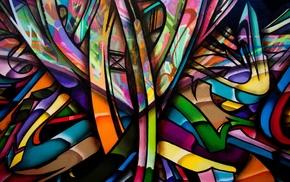 graffiti, closeup, walls, colorful, painting, abstract