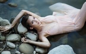 girl, water, wet clothing, wet, model