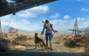 Dogmeat, weapon, Fallout 4, apocalyptic