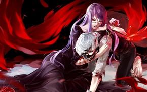 Tokyo Ghoul, anime, anime girls, Kamishiro Rize, Kaneki Ken