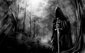 The Lord of the Rings, Nazgl, sword, evil, fantasy art, artwork