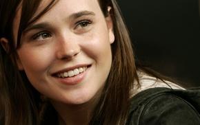 girl, eyes, face, Ellen Page, celebrity, smiling