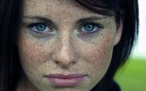 freckles, eyes, face