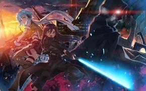 anime, Sword Art Online, Asada Shino, artwork, Kirigaya Kazuto, Shinkawa Shoichi