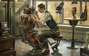 artwork, dentist, robot