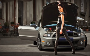 luxury, girl with cars, girl, wheels, fast cars, Shelby GT500 Super Snake