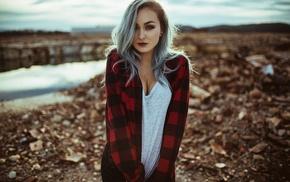 model, girl, Aaron Woodall, girl outdoors, portrait, depth of field