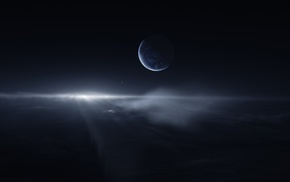 space art, planet, space, dust
