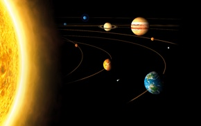 planet, Sun, Jupiter, orbits, Saturn, Venus